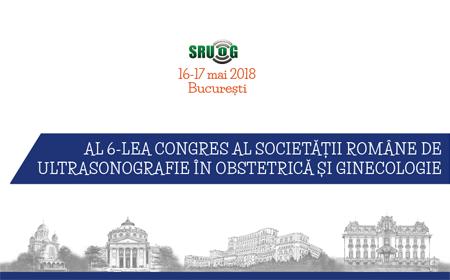 •Al VI-lea Congres al Societății de Ultrasonografie în Obstetrică și Ginecologie, 16 - 17 mai 2018, București